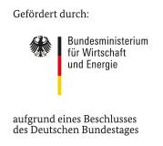 Gefördert durch das Bundesministerium für Wirtschaft und Energie auf Grund eines Beschlusses des Deutschen Bundestages